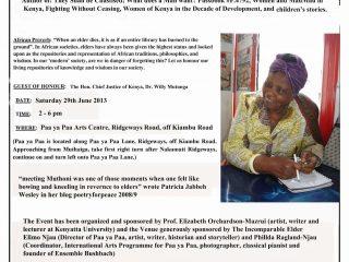 Honouring Elders in the Arts; Muthoni Likimani