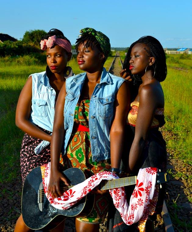 The Kiu Music trio made up of Pauline, Rosa & Tracy)