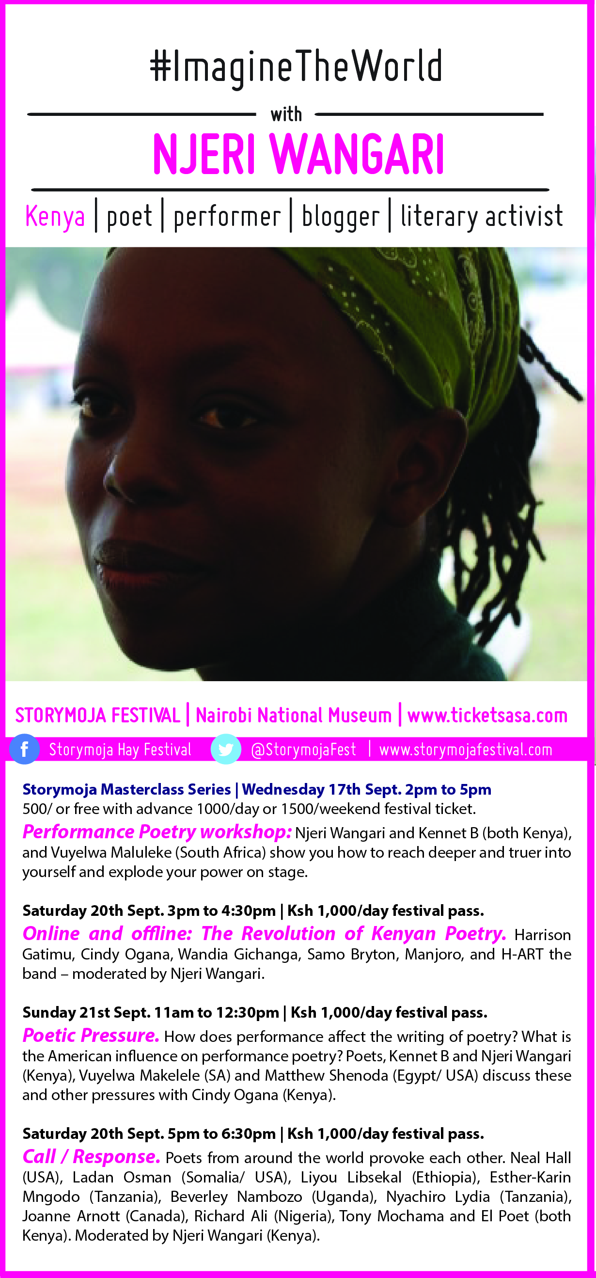 Kenyan Poet Njeri Wangari at StoryMojaFest