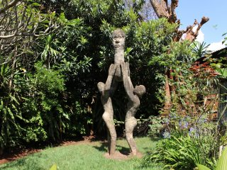 A Garden Graced With Stone and Cement Sculptures at Paa ya Paa Art Gallery