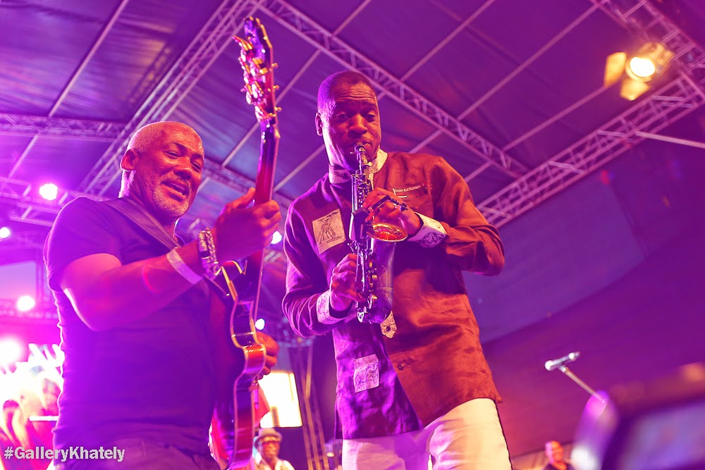 andUganda's Jazz Saxophonist  Isaiah Katumwa jamming with Jazz Guitarist Jonathan Butler(image courtesy of Gallery Khately)