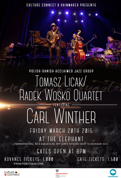 "Tomasz Licak/Radek Wośko Quartet featuring Carl Winther"" Live in concert this Friday at The Elephant."