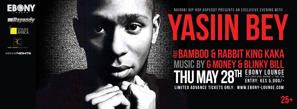 Yasiin Bey Formerly Mos Def coming to Kenya for Nairobi Rapsody