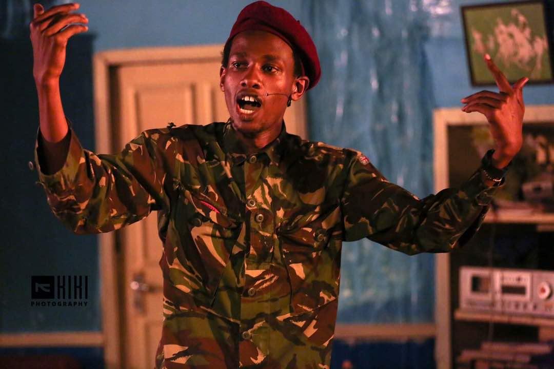 Ngatia On stage Narrating The Ageless Defiance of Muthoni Nyanjiru