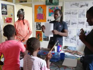 Patrick Mukabi Painting Legacy with a New Generation